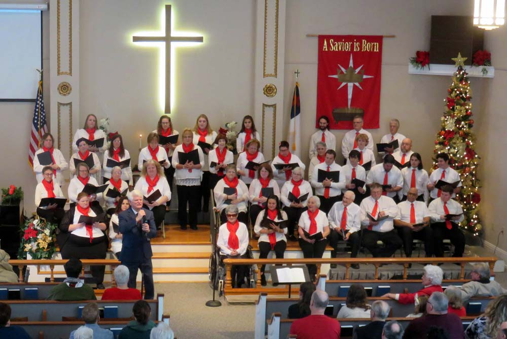 Choir singing at Christmas